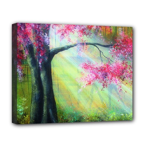 Forests Stunning Glimmer Paintings Sunlight Blooms Plants Love Seasons Traditional Art Flowers Sunsh Deluxe Canvas 20  X 16