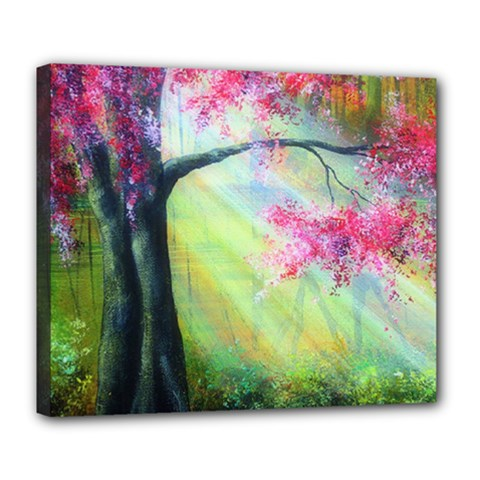Forests Stunning Glimmer Paintings Sunlight Blooms Plants Love Seasons Traditional Art Flowers Sunsh Deluxe Canvas 24  x 20
