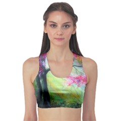 Forests Stunning Glimmer Paintings Sunlight Blooms Plants Love Seasons Traditional Art Flowers Sunsh Sports Bra
