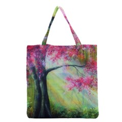 Forests Stunning Glimmer Paintings Sunlight Blooms Plants Love Seasons Traditional Art Flowers Sunsh Grocery Tote Bag