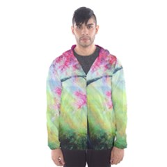 Forests Stunning Glimmer Paintings Sunlight Blooms Plants Love Seasons Traditional Art Flowers Sunsh Hooded Wind Breaker (men)