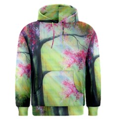 Forests Stunning Glimmer Paintings Sunlight Blooms Plants Love Seasons Traditional Art Flowers Sunsh Men s Pullover Hoodie