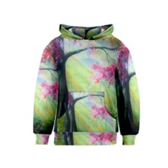 Forests Stunning Glimmer Paintings Sunlight Blooms Plants Love Seasons Traditional Art Flowers Sunsh Kids  Pullover Hoodie
