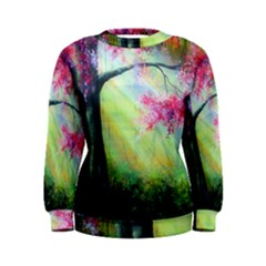 Forests Stunning Glimmer Paintings Sunlight Blooms Plants Love Seasons Traditional Art Flowers Sunsh Women s Sweatshirt