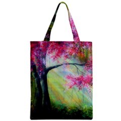 Forests Stunning Glimmer Paintings Sunlight Blooms Plants Love Seasons Traditional Art Flowers Sunsh Zipper Classic Tote Bag