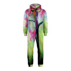 Forests Stunning Glimmer Paintings Sunlight Blooms Plants Love Seasons Traditional Art Flowers Sunsh Hooded Jumpsuit (Kids)