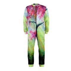 Forests Stunning Glimmer Paintings Sunlight Blooms Plants Love Seasons Traditional Art Flowers Sunsh Onepiece Jumpsuit (kids)