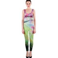 Forests Stunning Glimmer Paintings Sunlight Blooms Plants Love Seasons Traditional Art Flowers Sunsh OnePiece Catsuit