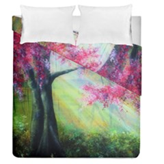 Forests Stunning Glimmer Paintings Sunlight Blooms Plants Love Seasons Traditional Art Flowers Sunsh Duvet Cover Double Side (queen Size)