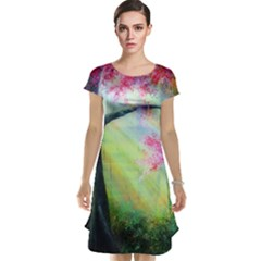 Forests Stunning Glimmer Paintings Sunlight Blooms Plants Love Seasons Traditional Art Flowers Sunsh Cap Sleeve Nightdress
