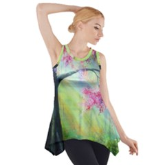Forests Stunning Glimmer Paintings Sunlight Blooms Plants Love Seasons Traditional Art Flowers Sunsh Side Drop Tank Tunic