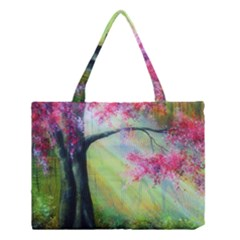 Forests Stunning Glimmer Paintings Sunlight Blooms Plants Love Seasons Traditional Art Flowers Sunsh Medium Tote Bag