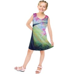 Forests Stunning Glimmer Paintings Sunlight Blooms Plants Love Seasons Traditional Art Flowers Sunsh Kids  Tunic Dress