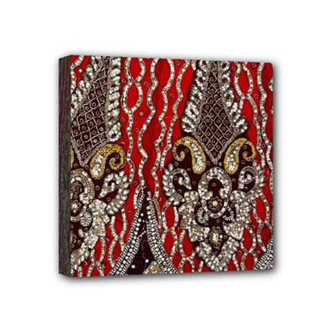 Indian Traditional Art Pattern Mini Canvas 4  X 4
