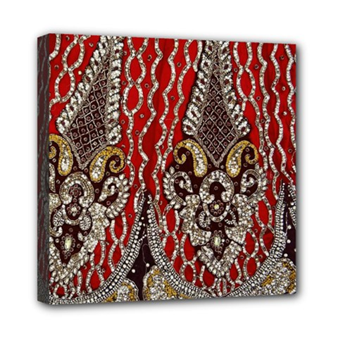Indian Traditional Art Pattern Mini Canvas 8  x 8