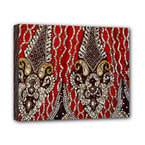 Indian Traditional Art Pattern Canvas 10  x 8