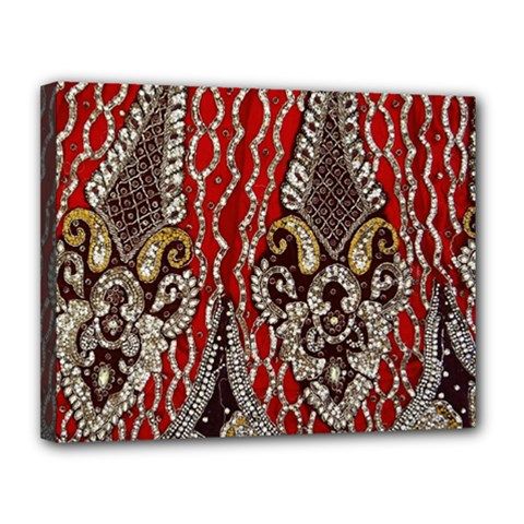 Indian Traditional Art Pattern Canvas 14  X 11