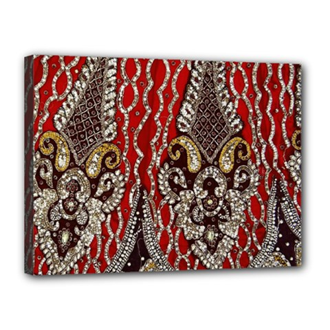 Indian Traditional Art Pattern Canvas 16  X 12