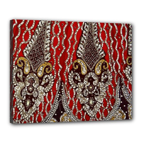 Indian Traditional Art Pattern Canvas 20  X 16