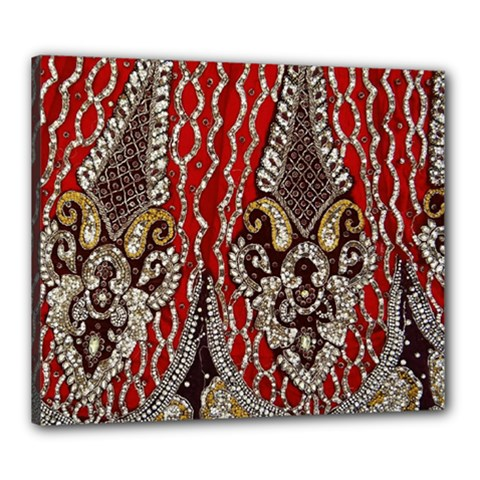 Indian Traditional Art Pattern Canvas 24  X 20