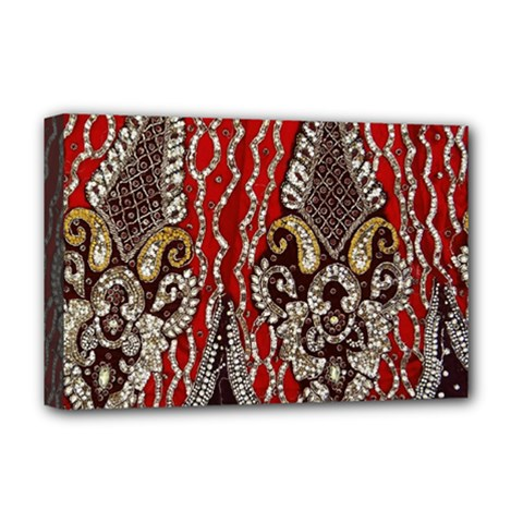 Indian Traditional Art Pattern Deluxe Canvas 18  x 12
