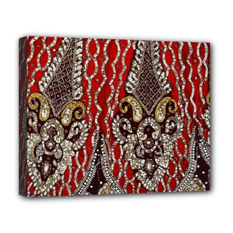 Indian Traditional Art Pattern Deluxe Canvas 20  x 16