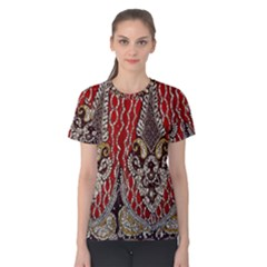 Indian Traditional Art Pattern Women s Cotton Tee