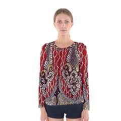 Indian Traditional Art Pattern Women s Long Sleeve Tee