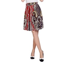 Indian Traditional Art Pattern A-Line Skirt