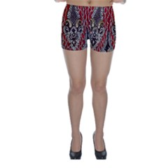 Indian Traditional Art Pattern Skinny Shorts