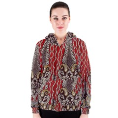 Indian Traditional Art Pattern Women s Zipper Hoodie