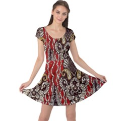 Indian Traditional Art Pattern Cap Sleeve Dresses