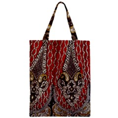 Indian Traditional Art Pattern Zipper Classic Tote Bag