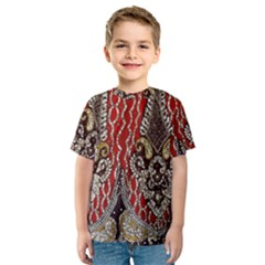 Indian Traditional Art Pattern Kids  Sport Mesh Tee