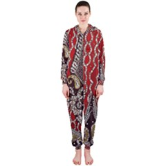 Indian Traditional Art Pattern Hooded Jumpsuit (Ladies)
