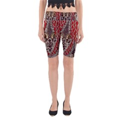 Indian Traditional Art Pattern Yoga Cropped Leggings