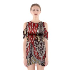 Indian Traditional Art Pattern Shoulder Cutout One Piece