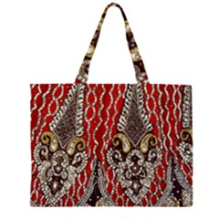Indian Traditional Art Pattern Large Tote Bag