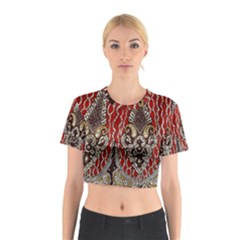 Indian Traditional Art Pattern Cotton Crop Top