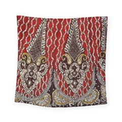 Indian Traditional Art Pattern Square Tapestry (small)