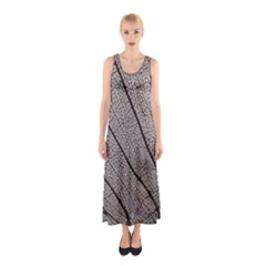 Sea Fan Coral Intricate Patterns Sleeveless Maxi Dress