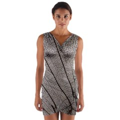 Sea Fan Coral Intricate Patterns Wrap Front Bodycon Dress