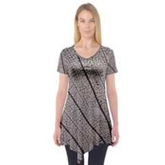 Sea Fan Coral Intricate Patterns Short Sleeve Tunic