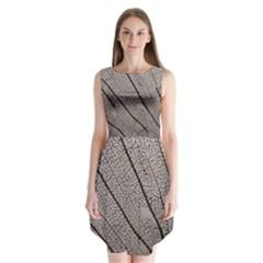 Sea Fan Coral Intricate Patterns Sleeveless Chiffon Dress