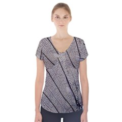 Sea Fan Coral Intricate Patterns Short Sleeve Front Detail Top