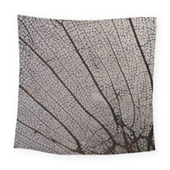 Sea Fan Coral Intricate Patterns Square Tapestry (large)
