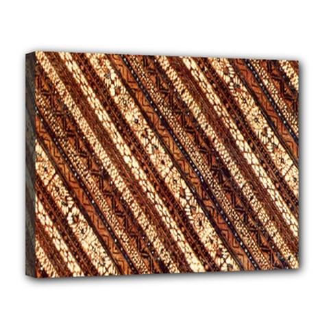 Udan Liris Batik Pattern Canvas 14  x 11