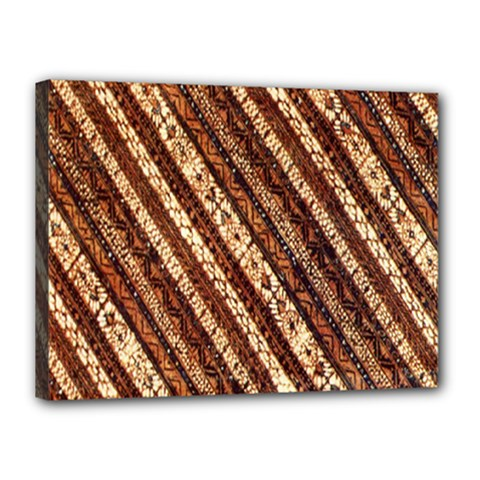 Udan Liris Batik Pattern Canvas 16  X 12