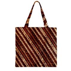 Udan Liris Batik Pattern Zipper Grocery Tote Bag