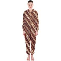 Udan Liris Batik Pattern Hooded Jumpsuit (ladies)